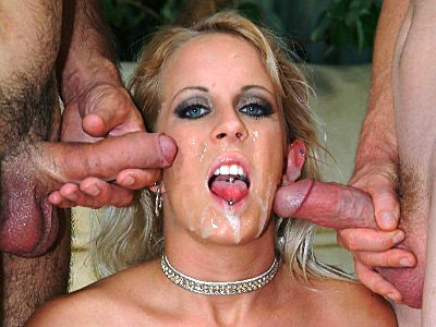 Angela Cock Sharing Blowjob